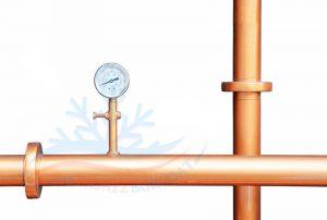 اتصال یک فشار سنج با لوله مسی